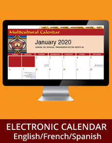 Multicultural Calendar Electronic Online Outlook